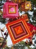o 'Tung' a forma quadrada é linha colorida tecida Imagem de Stock