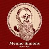 """O †1496 de Menno Simons """"1561 era um líder proeminente do movimento anabatista nos Países Baixos no século XVI ilustração royalty free"""