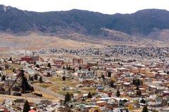 O ângulo alto negligencia o Estados Unidos de Montana Downtown EUA do montículo imagem de stock royalty free