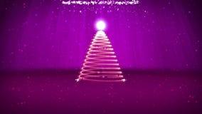 O ângulo largo disparou do tema do inverno para o fundo do Natal ou do ano novo com espaço da cópia Árvore do Xmas das partículas ilustração royalty free