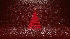 O ângulo largo disparou do tema do inverno para o fundo do Natal ou do ano novo com espaço da cópia Árvore do Xmas do fulgor bril ilustração royalty free
