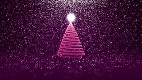 O ângulo largo disparou do tema do inverno para o fundo do Natal ou do ano novo com espaço da cópia Árvore do Xmas do fulgor bril ilustração do vetor
