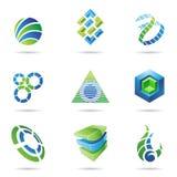 O ícone abstrato ajustou 11 Imagens de Stock
