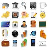 O ícone ajustou-se para o Web Foto de Stock Royalty Free