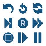 O ícone azul ajustou 29 ilustração stock