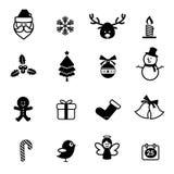 o ícone 038-Christmas ajustou 001 Imagens de Stock Royalty Free