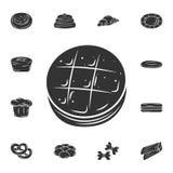 O ícone cozido Ilustração simples do elemento O projeto cozido do símbolo do grupo da coleção da padaria Pode ser usado para a We ilustração royalty free