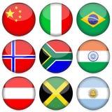 O ícone da bandeira nacional ajustou 2 ilustração do vetor