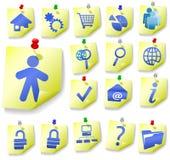 O ícone da casca do memorando do bloco de notas ajusta 1 Imagens de Stock