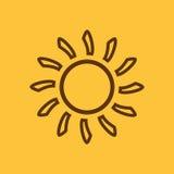 O ícone da luz do sol Nascer do sol e luz do sol, tempo, símbolo do sol Ui web logo sinal Projeto liso app estoque Imagem de Stock Royalty Free