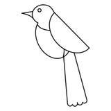 O ícone da mosca da fauna da pomba do pássaro dilui a linha ilustração do vetor