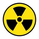 O ícone da radiação Símbolo da radiação ilustração royalty free