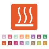 O ícone da superfície quente Quentemente símbolo liso Imagem de Stock