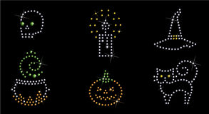 O ícone de Halloween ajustou 2 Imagens de Stock Royalty Free