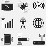 O ícone de WiFi ajustou dois Foto de Stock