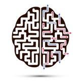 O ícone do cérebro Ilustração Royalty Free