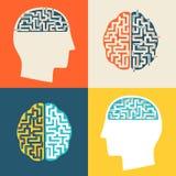 O ícone do cérebro Ilustração do Vetor