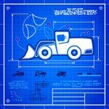 O ícone do carregador da roda dianteira gosta do desenho do modelo ilustração royalty free
