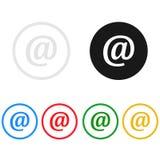 O ícone do contato da Web, canta, ilustração Fotos de Stock Royalty Free