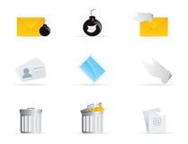 O ícone do correio ajustou 2 Ilustração do Vetor