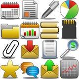 O ícone do escritório ajustou 2 Imagem de Stock