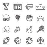 O ícone do esporte ajustou 1 Foto de Stock