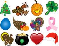 O ícone do feriado ajustou 2 Fotografia de Stock Royalty Free