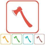 O ícone do machado Símbolo do machado Imagem de Stock