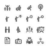 O ícone do negócio e da gestão ajustou 5, vetor eps10 ilustração stock