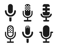 O ícone do orador do microfone ajustou-se para apps e Web site - vetor ilustração royalty free