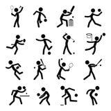 O ícone do pictograma do esporte ajustou 01 Imagem de Stock