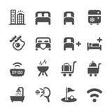 O ícone do serviço de hotel ajustou 10, vetor eps10 Imagem de Stock Royalty Free