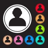 O ícone do usuário, os recursos humanos e a pessoa do negócio projetam Fotos de Stock Royalty Free