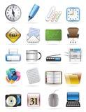 O ícone do vetor das ferramentas do escritório ajustou 2 Fotografia de Stock Royalty Free