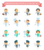 O ícone dos povos das profissões ajustou 1 Imagens de Stock