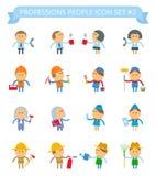 O ícone dos povos das profissões ajustou 2 Imagem de Stock Royalty Free