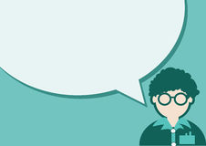 O ícone e os povos dos povos que falam com discurso borbulham ilustração stock