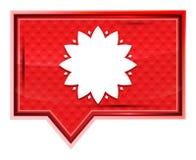 O ícone frondoso da flor enevoado aumentou botão cor-de-rosa da bandeira ilustração royalty free