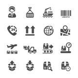 O ícone logístico ajustou 2, vetor eps10 Fotografia de Stock Royalty Free
