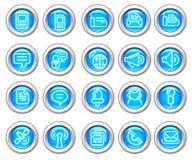 O ícone lustroso de Silvero ajustou-se: Uma comunicação sem fio Foto de Stock