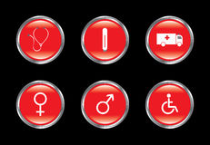 O ícone médico ajustou 2 Imagem de Stock Royalty Free