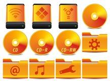 O ícone para o sistema da operação ajustou 1 de 4 Imagem de Stock