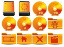 O ícone para o sistema da operação ajustou 3 de 4 Fotografia de Stock