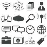 O ícone preto simples ajustou 11 Imagens de Stock
