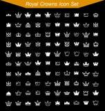 O ícone real da coroa ajustou 1 Foto de Stock Royalty Free