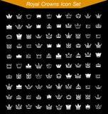 O ícone real da coroa ajustou 2 Imagem de Stock Royalty Free