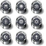 O ícone religioso ajustou-se em teclas do vetor Imagem de Stock Royalty Free