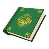 O ícone santamente dos desenhos animados do Corão ilustração do vetor