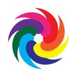 O ícone simples Creaive dá forma ao logotipo geométrico fotografia de stock royalty free