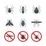 O ícone simples do vetor do inseto ajustou 2 Imagem de Stock